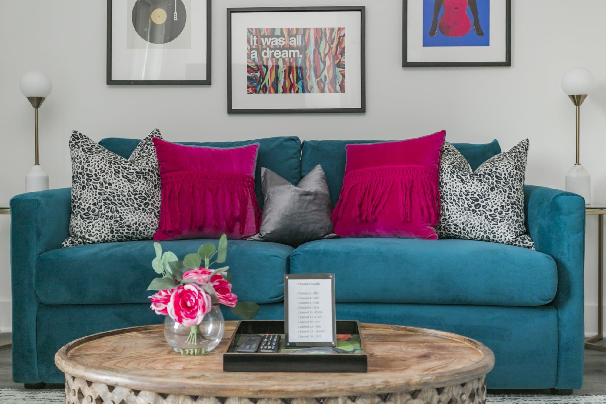 Colorful Condo Sofa